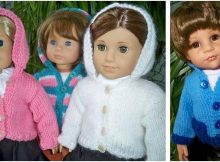 dainty knitted doll hoodie   the knitting space