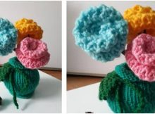 dainty knitted flower decor | the knitting space