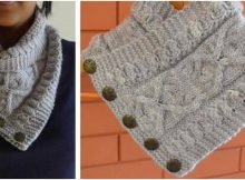 daisies knitted pearl cowl | the knitting space
