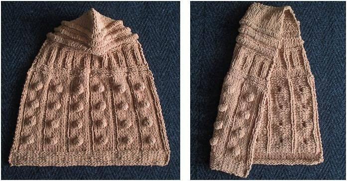 Dalek Knitted Hooded Baby Blanket Free Knitting Pattern