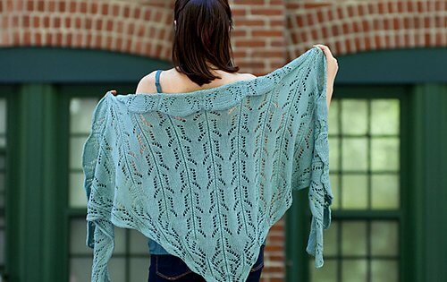 dancing hands knitted lace shawl | the knitting space
