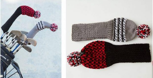 Dandy Knitted Golf Headcovers Free Knitting Pattern