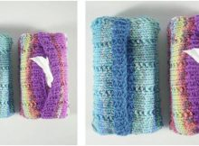 dandy knitted tissue pouch | the knitting space
