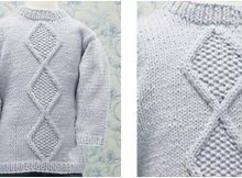 darling knitted diamond sweater | the knitting space