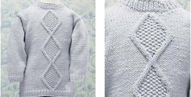 15addb6eb Darling Knitted Diamond Sweater  FREE Knitting Pattern