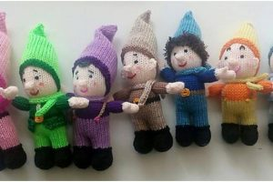 darling dwarf knitted stuffed toys | the knitting space