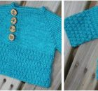 wee darling knitted kiddie cardigan | the knitting space