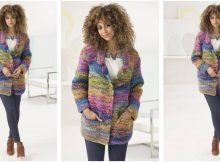 dazzling Calypso knitted cardigan | the knitting space