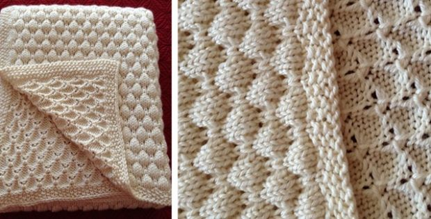 Deans Knitted Baby Blanket Free Knitting Pattern