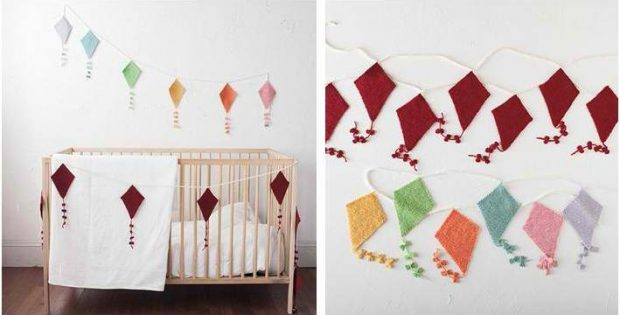 Delightful Kite Knitted Bunting Free Knitting Pattern