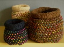 delightful knitted dotty pots | the knitting space