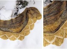 delovely knitted shawlette | the knitting space