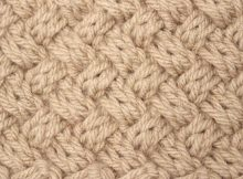 knitted diagonal basket weave | the knitting space
