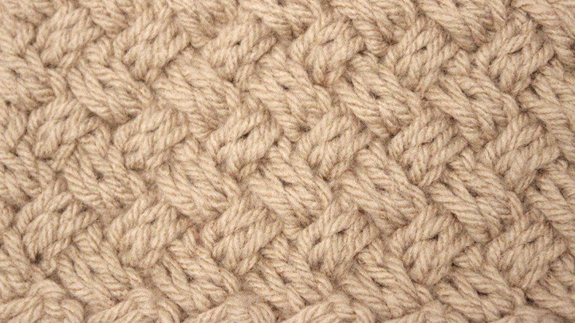 Knitted Diagonal Basket Weave Stitch Pattern A How To Video Tutorial
