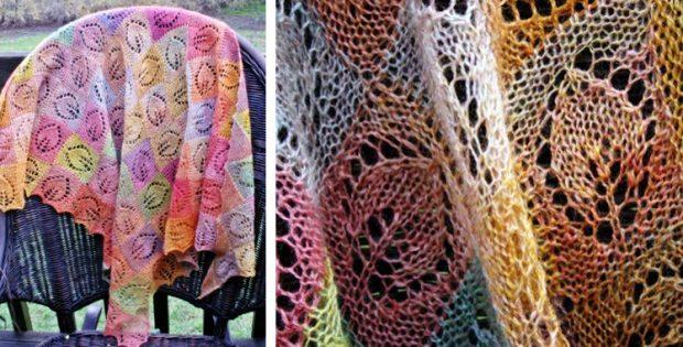 Dianna Knitted Lace Shawl Free Knitting Pattern