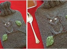 dr owl knitted hot water bottle cover | the knitting space