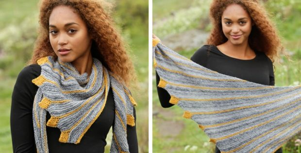 Fun Dragon Tail Knitted Shawl Free Knitting Pattern