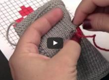 knit duplicate stitch | the knitting space