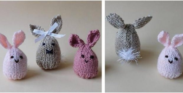 Fun Knitted Easter Bunny Egg Cosy Free Knitting Pattern
