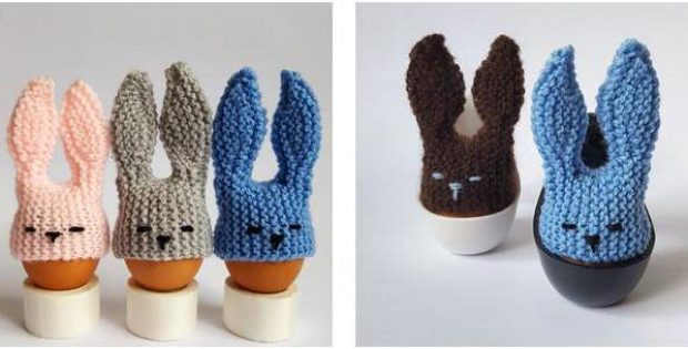easter bunny knitted egg cozy | the knitting space