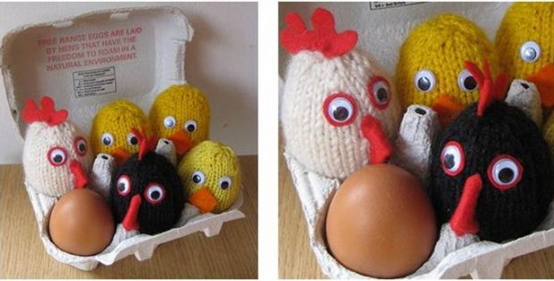 Easter Chick Knitted Egg Covers Free Knitting Pattern