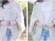 easy knitted blanket sweater | the knitting space