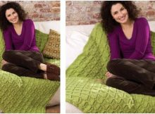 easy knitted cable afghan | the knitting space