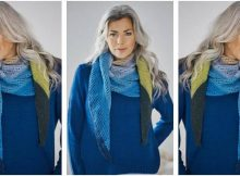 easy knitted triangle shawl | the knitting space