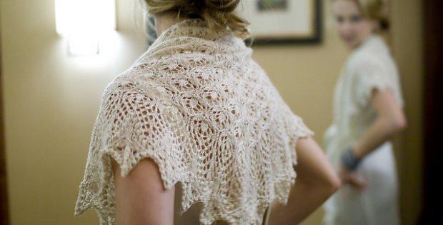 Knitted Echo Flower Shawl Free Knitting Pattern