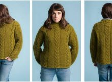 edgewater braids knitted sweater | the knitting space