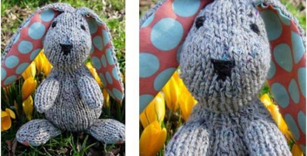 Knitting Easter Bunnies : Edmund knitted easter bunny free knitting pattern