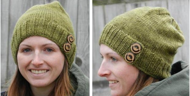 Embellished Knitted Toque Free Knitting Pattern