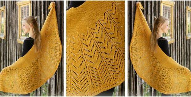 enchanting Calendula knitted lace shawl | the knitting space