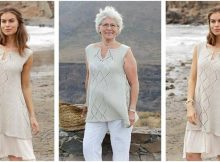 enchanting Chella knitted lace top | the knitting space