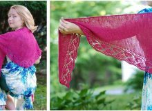 enchanting dayflower knitted shawl | the knitting space