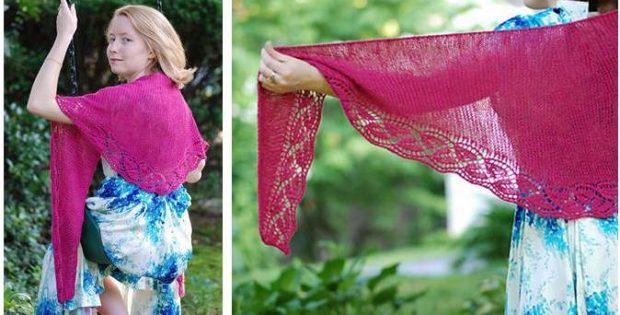 Enchanting Dayflower Knitted Shawl [FREE Knitting Pattern]