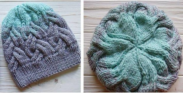 Enchanting Knitted Cable Hat Free Knitting Pattern