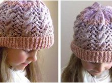 enchanting lace 'n cable knitted hat | the knitting space