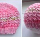 endearing lacey knitted baby hat | the knitting space