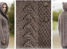 enthralling knitted hooded jacket | the knitting space