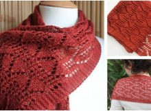 entrancing knitted lace scarf | the knitting space