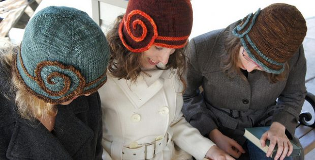 Escargot Knitted Cloche Hat Free Knitting Pattern