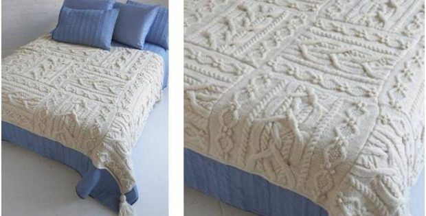 Exquisite Knitted Erin Afghan Free Knitting Pattern