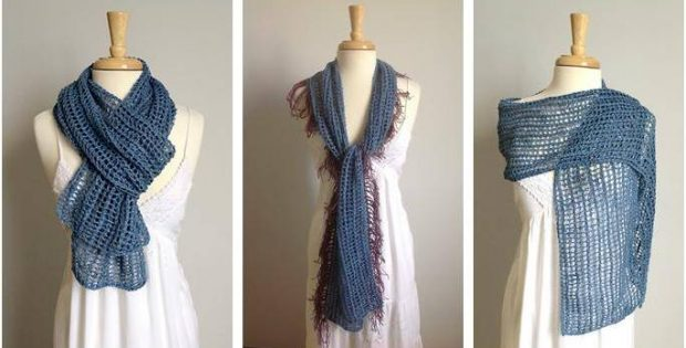 fabulous mesh knitted scarf | the knitting space