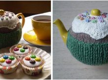 fairy cake knitted tea cosy   the knitting space