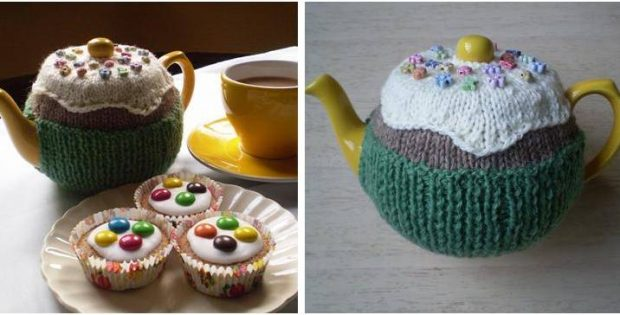 Fairy Cake Knitted Tea Cosy Free Knitting Pattern