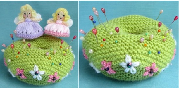 Knitted Fairy Pin And Pin Cushion Free Knitting Pattern