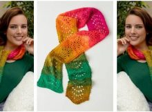 fantastic ripple knitted scarf | the knitting space