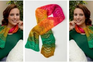 fantastic ripple knitted scarf   the knitting space