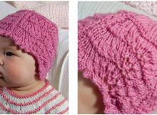 adorable feather & shell knitted baby hat | the knitting space